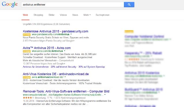 google-anzeige-mit-schadsoftware