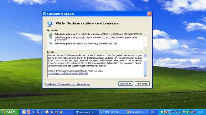 keine Windows XP Updates mehr