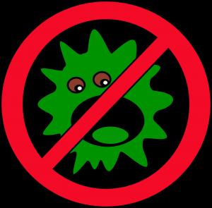 Virus eingefangen