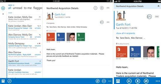 Outlook App kostenlos für iOS